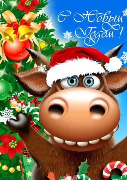 Картинка на год быка новый год 10