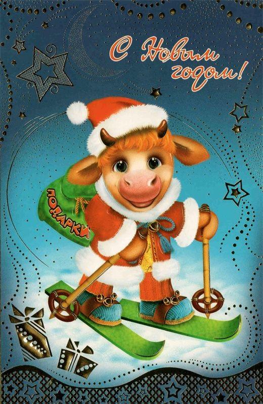 Картинка на год быка новый год 12