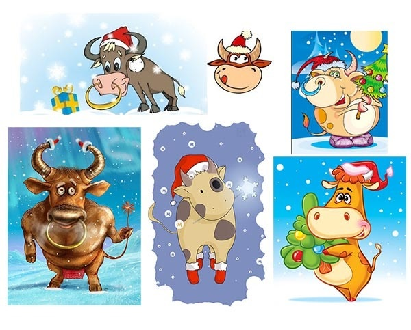 Картинка на год быка новый год 22