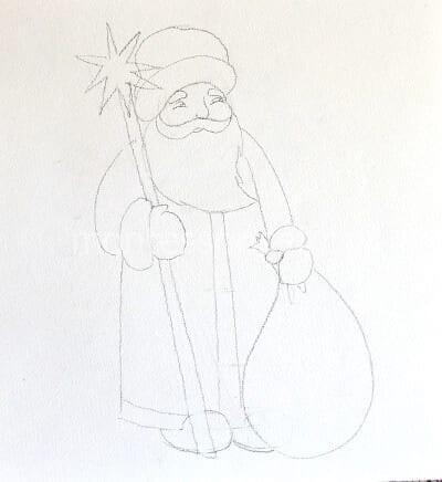 Картинки деда мороза иллюстрация на новый год 10