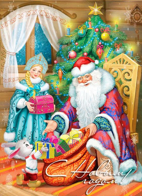 Картинки деда мороза иллюстрация на новый год 14