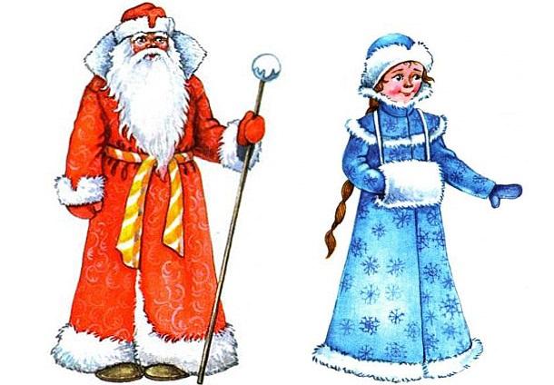 Картинки деда мороза иллюстрация на новый год 15