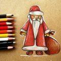 Картинки деда мороза иллюстрация на новый год 16