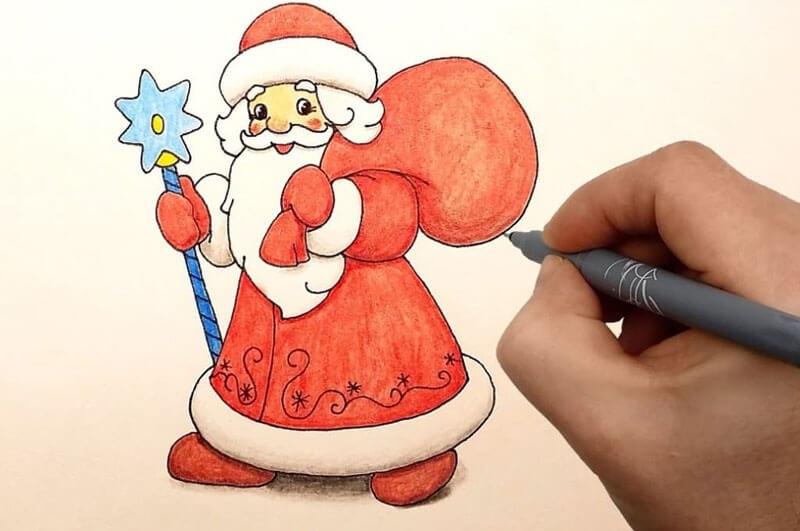 Картинки деда мороза иллюстрация на новый год 18