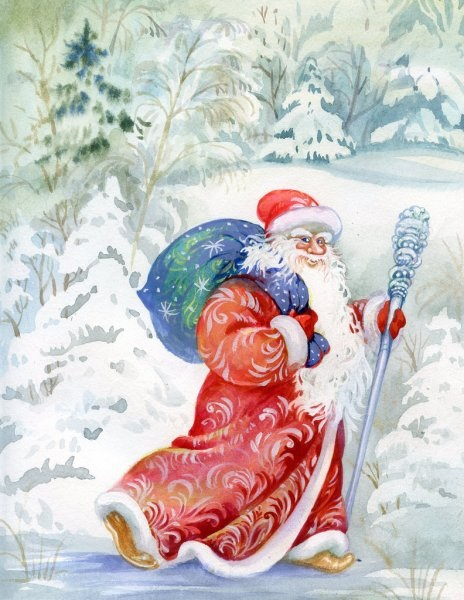 Картинки деда мороза иллюстрация на новый год 22