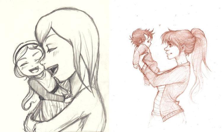 Красивые рисунки на день материя для срисовки 02