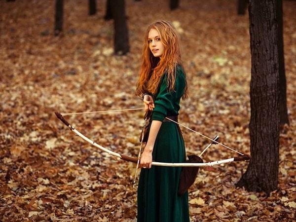 Крутые идеи фотосессии в осеннем лесу 11