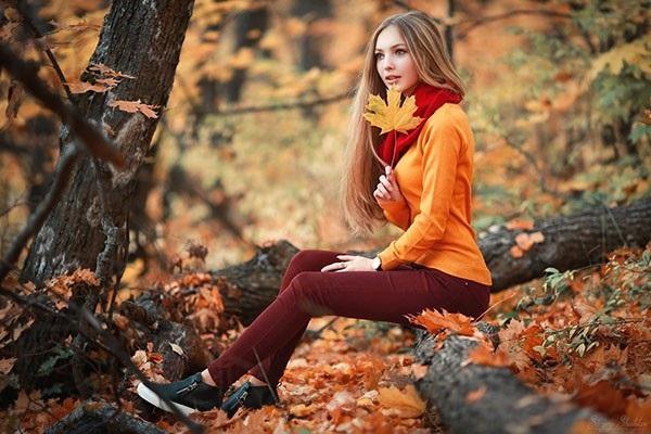 Крутые идеи фотосессии в осеннем лесу 13