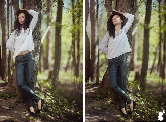 Крутые идеи фотосессии в осеннем лесу 24