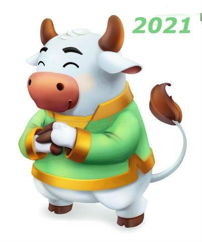 Крутые открытки на год быка 2021 13