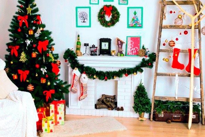 Лучшие украшение дома на новый год 01