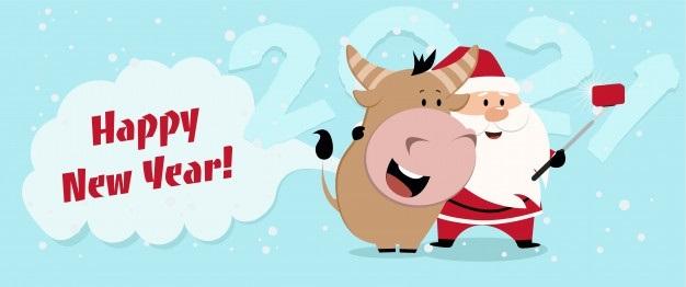 Милые поздравления с годом быка на новый год 06