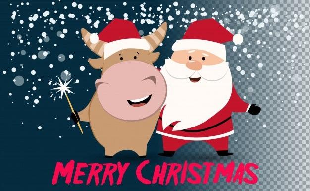 Милые поздравления с годом быка на новый год 09