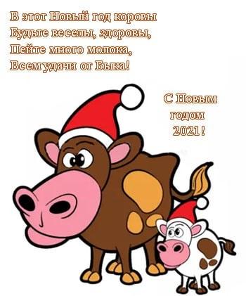 Милые поздравления с годом быка на новый год 22