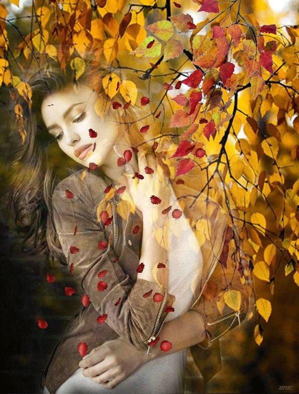 Милые фото девушки осенью с кофе 04
