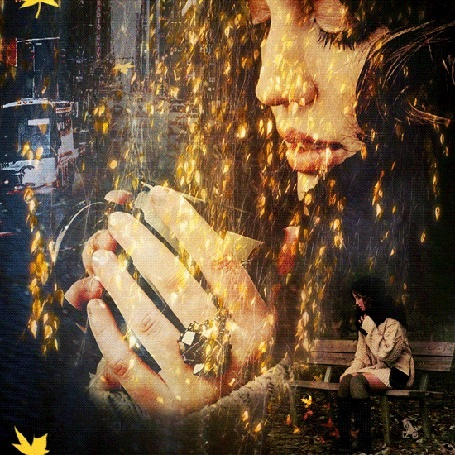 Милые фото девушки осенью с кофе 12