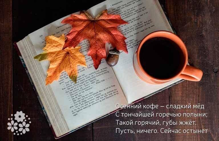 Милые фото девушки осенью с кофе 16