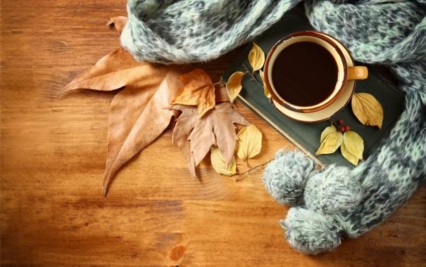 Милые фото девушки осенью с кофе 17