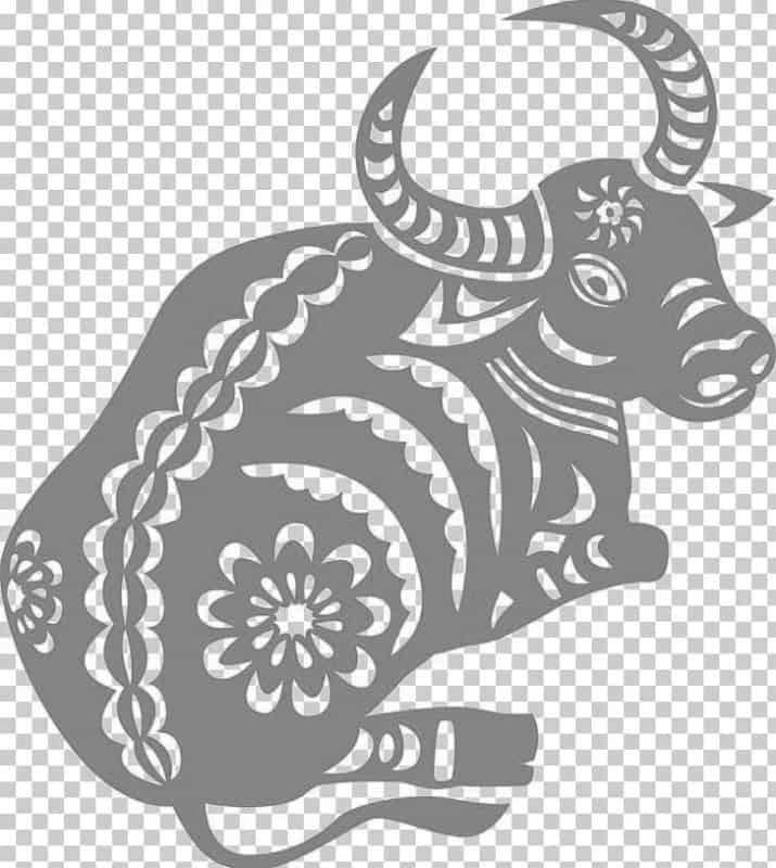 Новый год быка черно белые картинки 2021 02