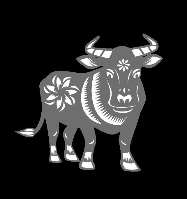 Новый год быка черно белые картинки 2021 05