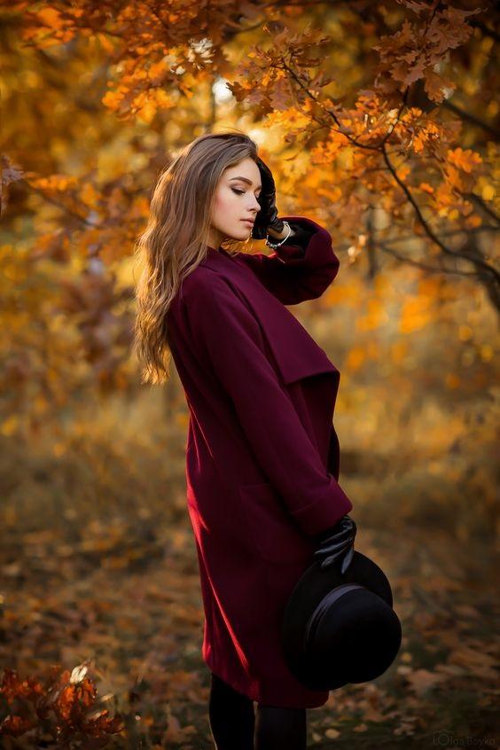 Осенью в пальто идеи для фотосессии 17
