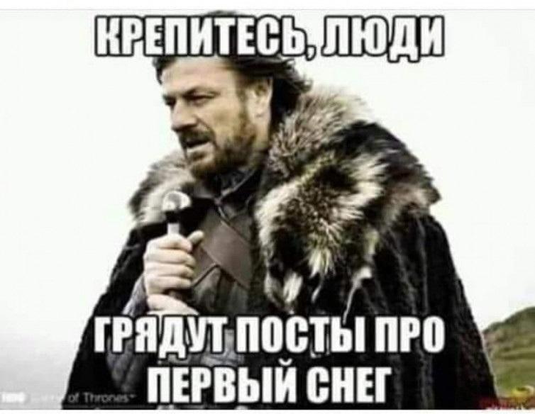 Очень смешные мемы про первый снег 08