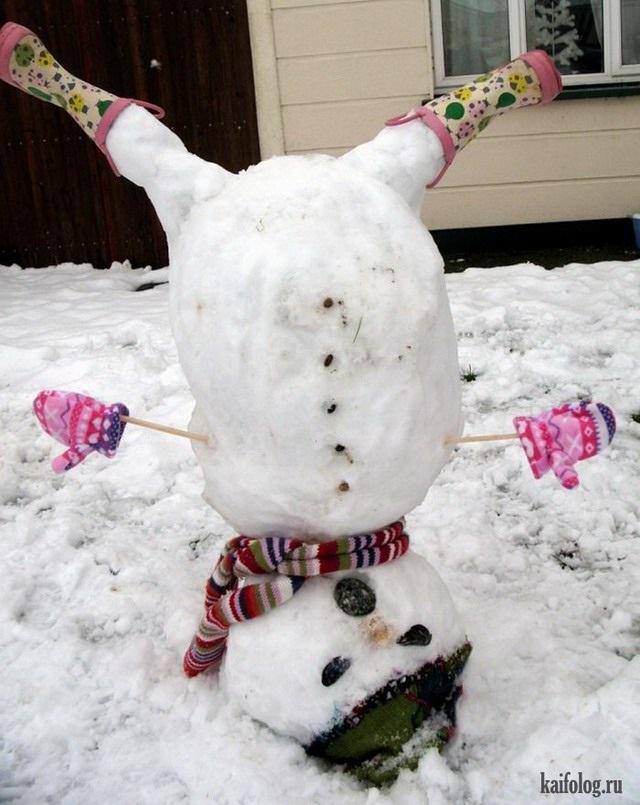 Смешные картинки приколы про первый снег 06