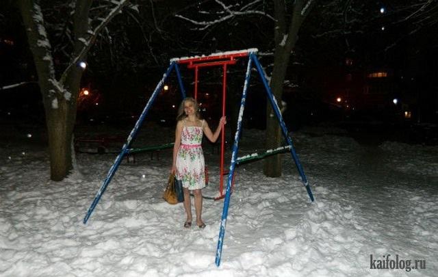 Смешные картинки приколы про первый снег 27