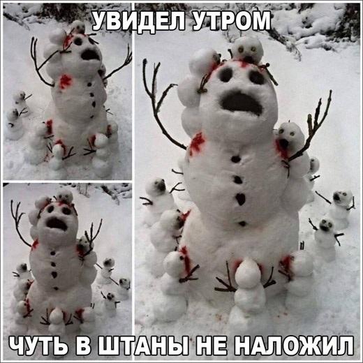 Смешные картинки с первым снегом 15