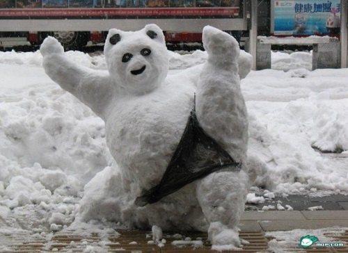 Смешные картинки с первым снегом 22