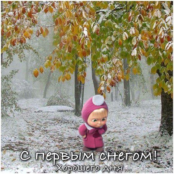Смешные картинки с первым снегом 25