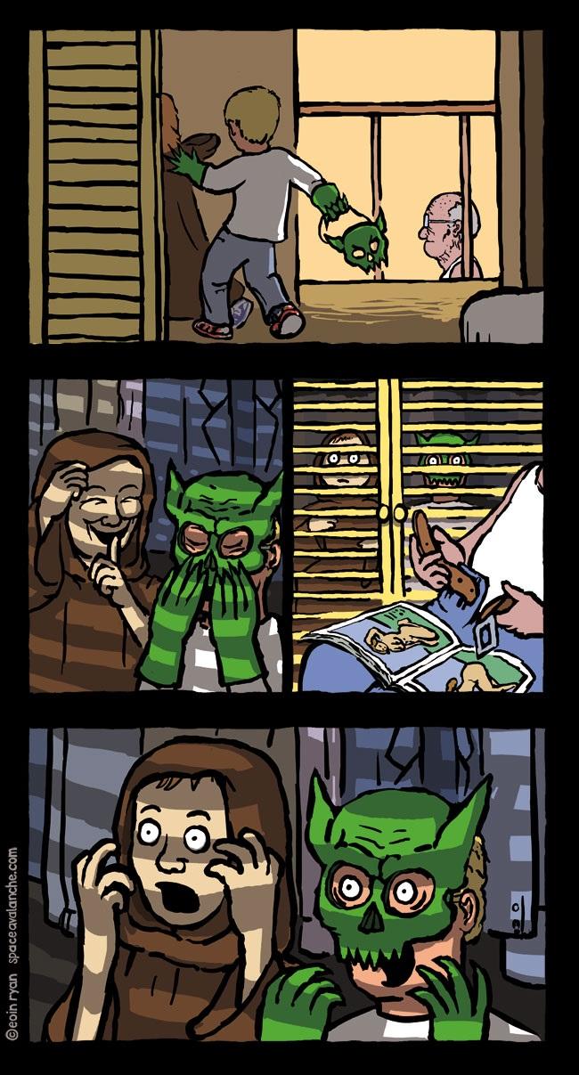Смешные мемы про хэлоуин 07