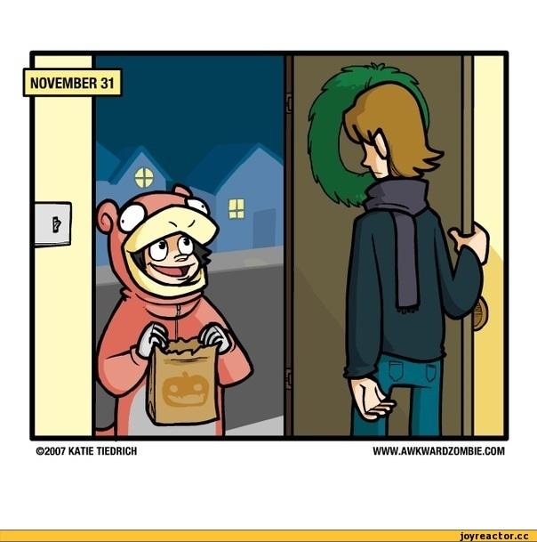 Смешные мемы про хэлоуин 22