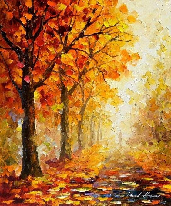 Что можно нарисовать на тему Осень в деревне 01