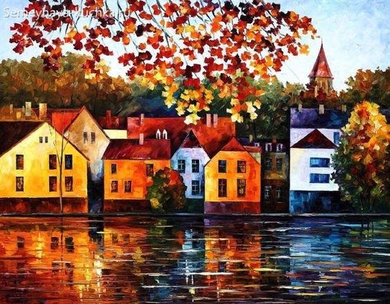Что можно нарисовать на тему Осень в деревне 03