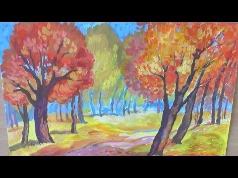 Что можно нарисовать на тему Осень в деревне 11
