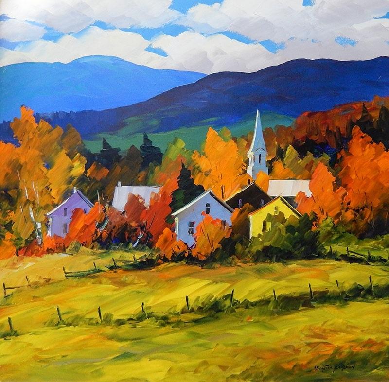 Что можно нарисовать на тему Осень в деревне 13