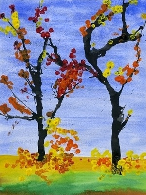 Что можно нарисовать на тему Осень в деревне 14