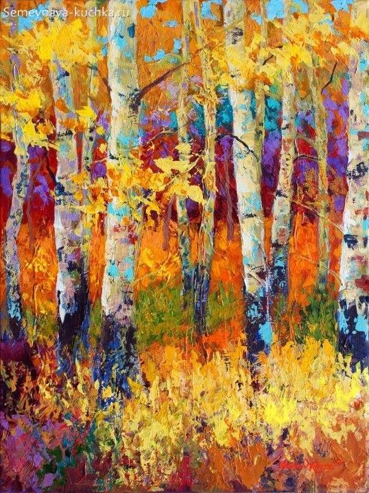 Что можно нарисовать на тему Осень в деревне 15