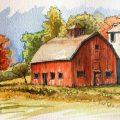 Что можно нарисовать на тему  Осень в деревне  17