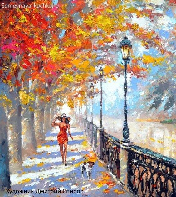 Что можно нарисовать на тему Осень в деревне 18