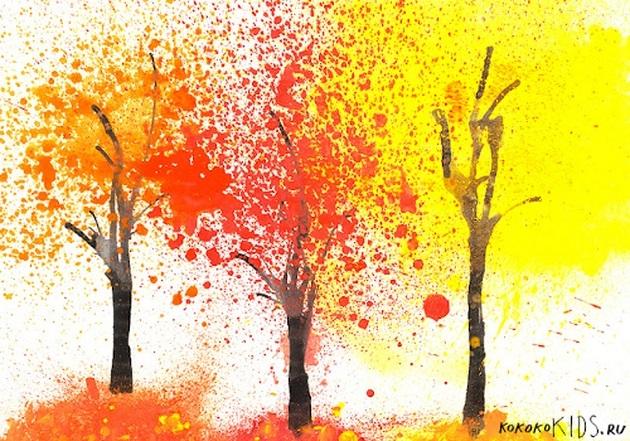 Что можно нарисовать на тему Осень в деревне 19