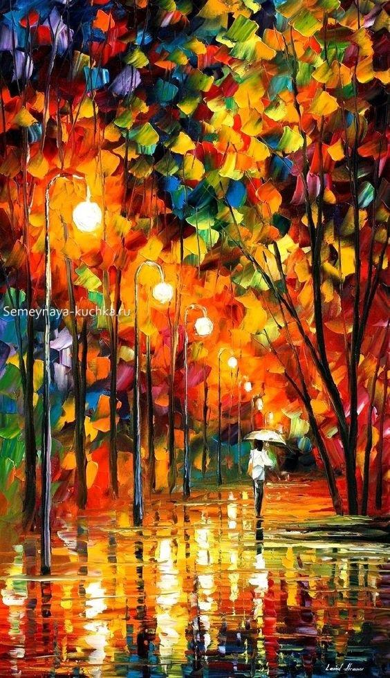Что можно нарисовать на тему Осень в деревне 21
