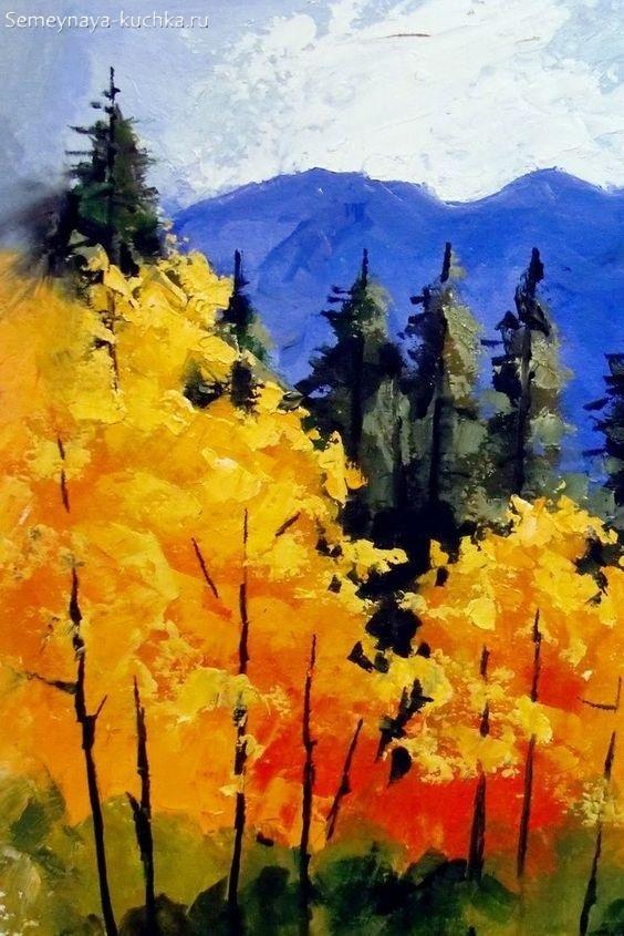 Что можно нарисовать на тему Осень в деревне 22