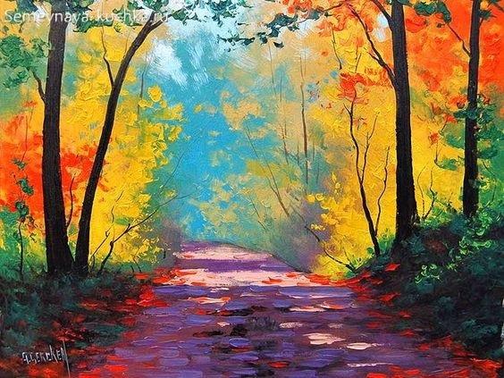 Что можно нарисовать на тему Осень в деревне 23