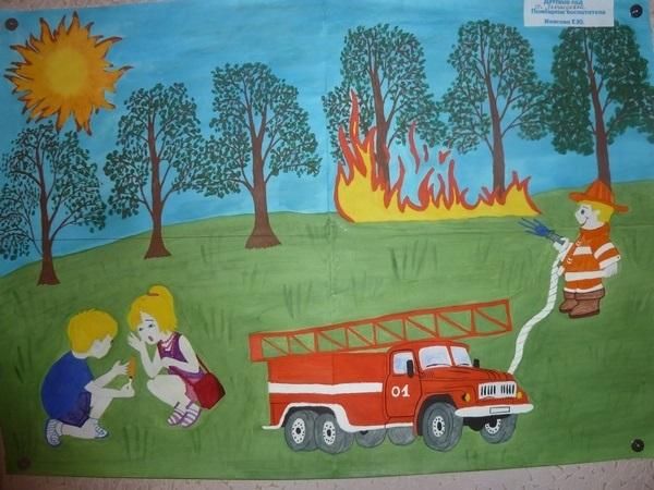Что можно нарисовать на тему Пожарная безопасность 02