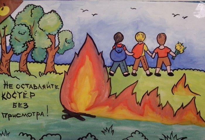 Что можно нарисовать на тему Пожарная безопасность 07