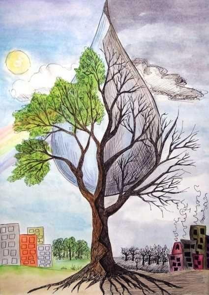 Что можно нарисовать на тему Экологии 01