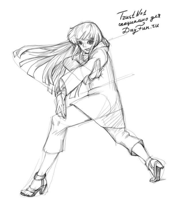 Взрослая Хината арт картинки из Наруто (15)