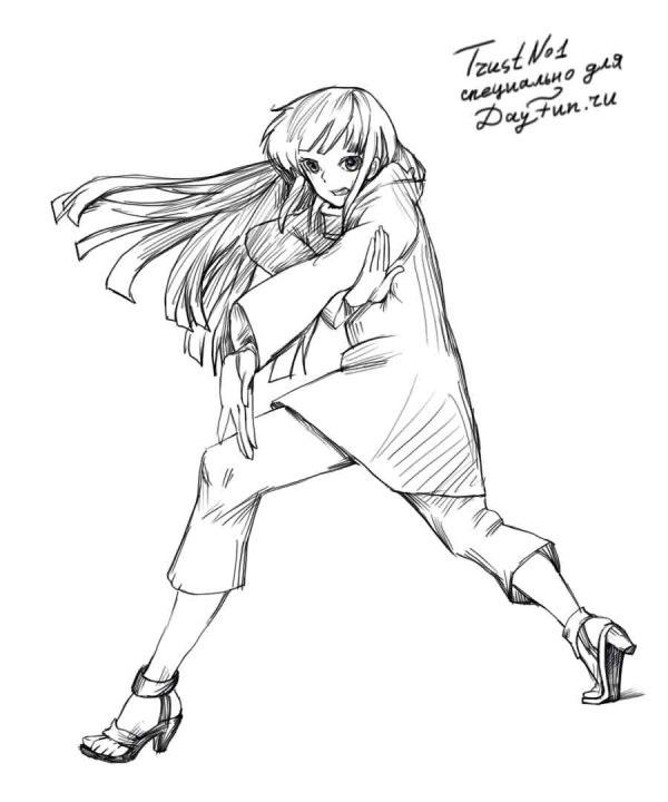 Взрослая Хината арт картинки из Наруто (16)